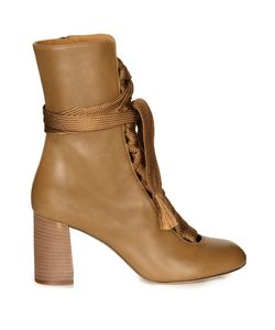 Chloe | Harper Lace-Up Leather Ankle Boots
