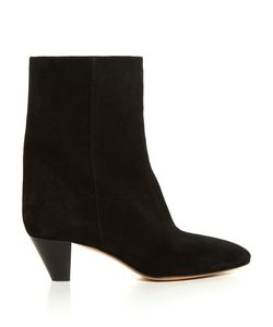 Isabel Marant | Étoile Dyna Cone-Heel Suede Ankle Boots