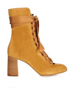Chloe | Harper Lace-Up Suede Ankle Boots
