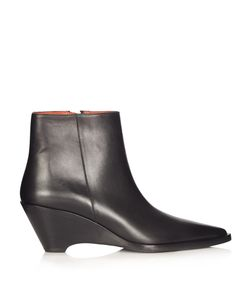 Acne   Cony Leather Ankle Boots
