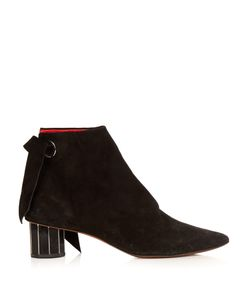 Proenza Schouler | Faceted-Heel Suede Ankle Boots