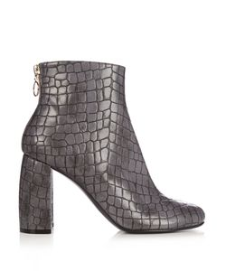 Stella Mccartney | Block-Heel Faux-Leather Ankle Boots
