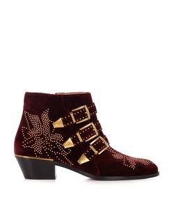 Chloe   Susanna Velvet Ankle Boots