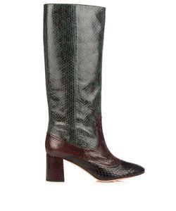 Rochas   Block-Heel Snakeskin Boots
