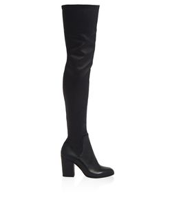 Alexa Wagner | Domino Leather Over-The-Knee Boots