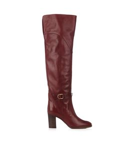 Chloe | Lenny Leather Knee-High Boots
