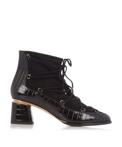 Nicholas Kirkwood | Outliner Suede And Leather Ankle Boots