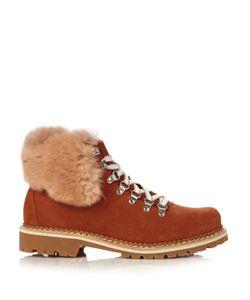 MONTELLIANA | Camelia Fur-Trimmed Suede Après-Ski Boots