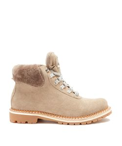 MONTELLIANA | Sequoia Shearling-Lined Suede Après-Ski Boots