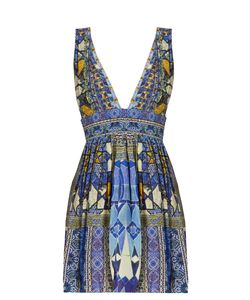 Camilla | Seeing Stars-Print Silk Crepe De Chine Dress