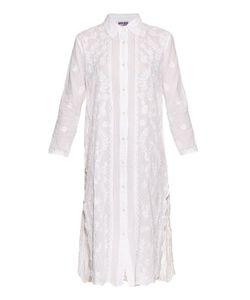 Juliet Dunn | Hand-Embroidered Cotton Shirtdress