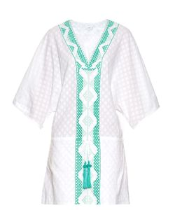 BIONDI | Peridot Embroidered Cotton Kaftan