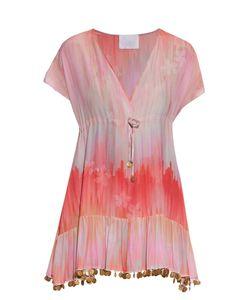 Athena Procopiou   Little Wing V-Neck Silk Dress