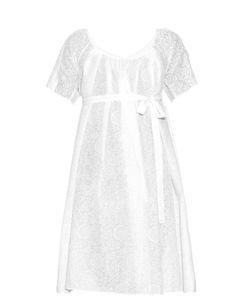 Thierry Colson | Plum Porcelain-Print Cotton Wrap Dress