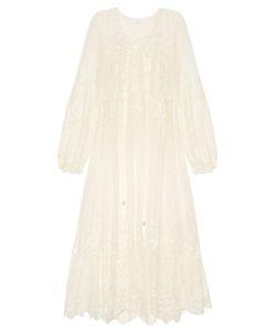 Zimmermann | Roza Embroidered Silk-Georgette Midi Dress
