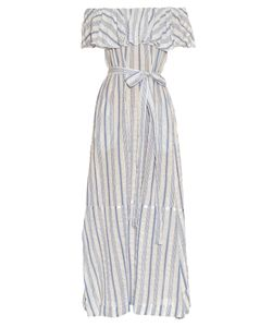Lisa Marie Fernandez | Mira Off-The-Shoulder Striped Maxi Dress