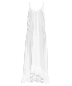 LOUP CHARMANT   Anemone Ruffled-Hem Cotton Maxi Dress