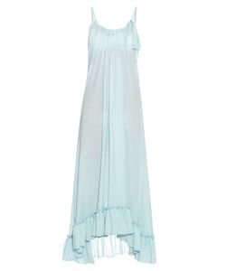LOUP CHARMANT | Anemone Ruffled-Hem Cotton Maxi Dress