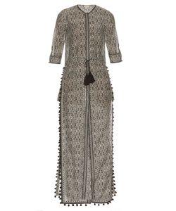 TALITHA | Block-Print Cotton And Silk-Blend Dress