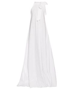 KALITA | Camille Halterneck Cotton Maxi Dress