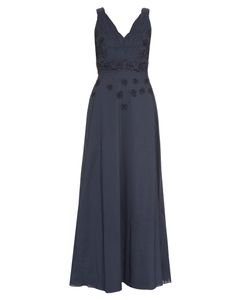 LE SIRENUSE, POSITANO | Anabel Embroidered Cotton Maxi Dress