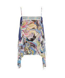 Etro | Bead-Embellished Silk-Chiffon Cami Top