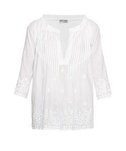 Juliet Dunn | Hand-Embroidered Cotton Shirt