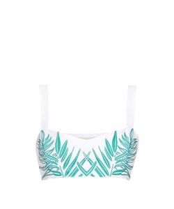 Mara Hoffman | Palm-Embroidered Cropped Top