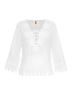 FIGUE | Lunette Appliqué Cotton Top