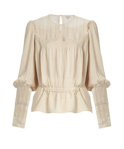 TALITHA | Long-Sleeved Lace-Panel Silk Shirt