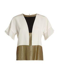 ZEUS + DIONE   Nephele Panelled Silk-Crepe Shirt