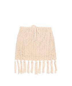 ANNA KOSTUROVA | Tassel-Hemline Crochet Skirt