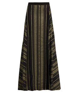 ZEUS + DIONE | Naiads Geometric-Jacquard Silk-Blend Skirt