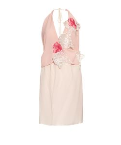 LOYD/FORD | Lace-Appliqué Silk Dress