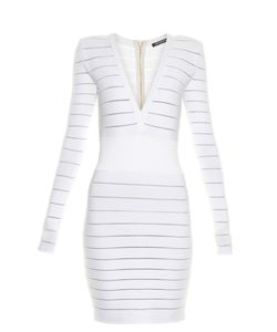 Balmain | Deep V-Neck Knit Dress