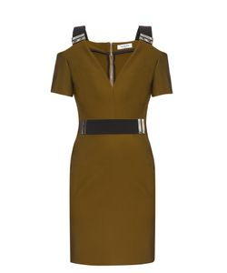 Mugler | V-Neck Bi-Colour Dress