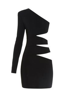 Balmain | Cutaway-Side One-Shoulder Mini Dress
