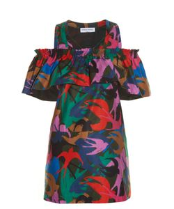 Sonia Rykiel | Swallow Camouflage-Print Satin Top