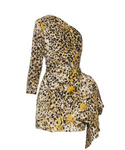 Roberto Cavalli | One-Shoulder Cheetah-Print Silk Dress