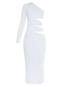 Balmain | Cutaway-Side One-Shoulder Midi Dress