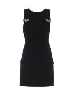 Mugler | Sleeveless Cargo-Pocket Crepe Dress