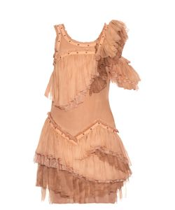 Roberto Cavalli | Sleeveless Ruffled Silk-Chiffon Dress
