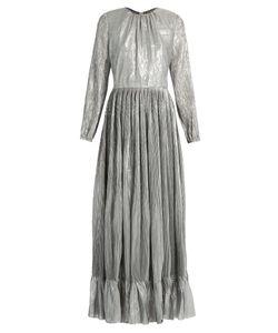 Adam Lippes | Long-Sleeved Pleated Maxi Dress