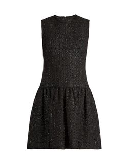 Simone Rocha | Round-Neck Sleeveless Tweed Dress