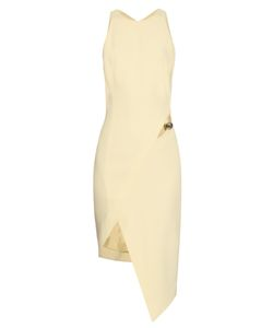 Mugler | Cut-Out Asymmetric-Hem Crepe Dress