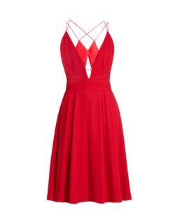 Lamania | Selene Plunging V-Neck Sleeveless Crepe Dress