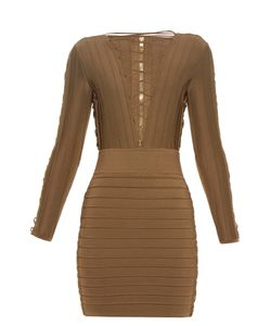 Balmain | Lace-Up Bandage Mini Dress