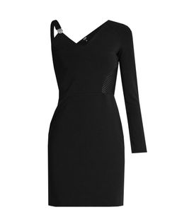 Versus | Asymmetric-Sleeve Contrast-Panel Mini Dress