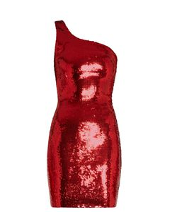 Saint Laurent | One-Shoulder Sequin-Embellished Mini Dress