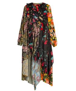 Balenciaga | Romantic Ascot Patchwork Midi Dress